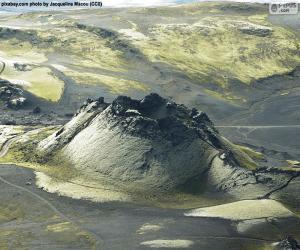 Puzle Vulcão Laki, Islândia