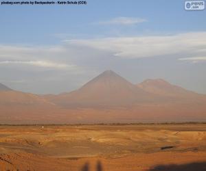 Puzle Vulcões no Atacama, Chile