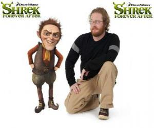 Puzle Walt Dohm a voz de Rumpelstiltskin, no mais recente filme Shrek para Sempre