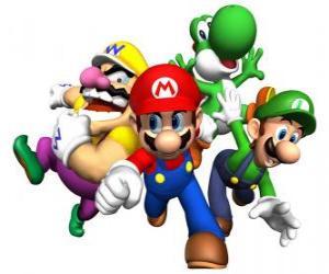 Puzle Wario, Yoshi Mario e Luigi