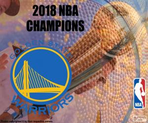 Puzle Warriors campeões da NBA 2018