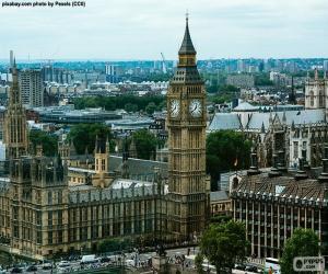 Puzle Westminster, Big Ben, Londres