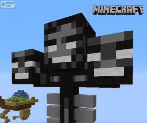 Puzle Whither, uma criatura chefe em Minecraft
