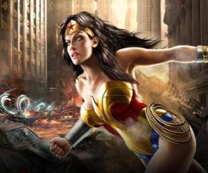 Puzle Wonder Woman ou Mulher-Maravilha é um super-heroína imortal com poderes semelhantes aos do Superman