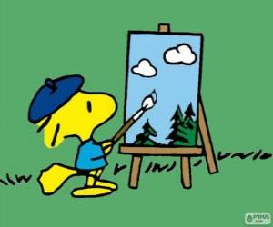 Puzle Woodstock pintor