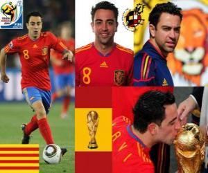Puzle Xavi Hernandez (O bastão) meia da seleção espanhola