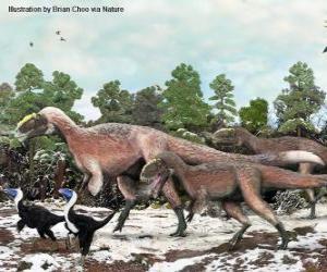 Puzle Yutyrannus com cerca de 9 metros é o maior dinossauro com penas conhecido