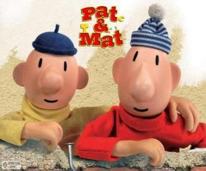 Puzle Zeca e Joca, os mais engraçados faz-tudo. Pat e Mat
