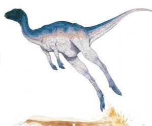 Puzle Zephyrosaurus foi um corredor bípede de apenas 1,8 metros de comprimento pesando 50 kg