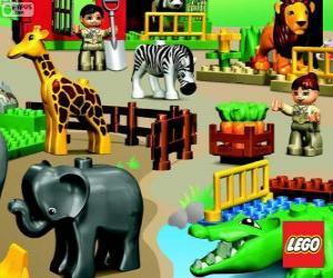 Puzle Zoológico de Lego