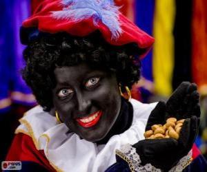 Puzle Zwarte Piet, Pedro Preto, o assistente de São Nicolau nos Países Baixos e na Bélgica