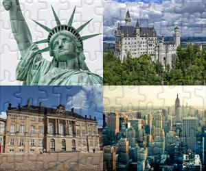 Puzzles de Casas, Cidades e Monumentos