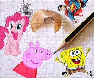 Puzzles de Personagens de Cartoon