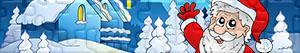 Puzzles de Papai Noel, renas e elfos