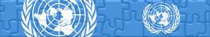 Puzzles de Bandeiras e Logos das Nações Unidas - ONU