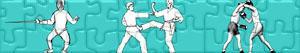Puzzles de Esportes de Combate - Desportos de Combate
